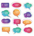 set colorful abstract chat label vector image