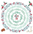 Set of different Christmas wreathes vector image