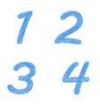 Sketch font set - numbers 1 2 3 4 vector image vector image
