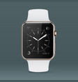 smart hand watch on gray background vector image vector image