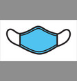 surgical mask for protection from viruses vector image