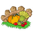 thanksgiving motive with harvest vector image