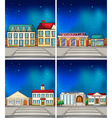 Town at night vector image vector image