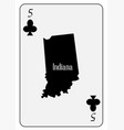 usa playing card 5 clubs vector image