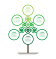 vertical eco business presentation concept with 6 vector image