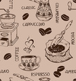 Vintage coffee seamless pattern vector image vector image