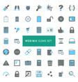 webmix icons set vector image