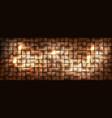 wide golden metallic cubes background shining vector image