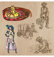 Wild West - Hand drawn pack vector image vector image