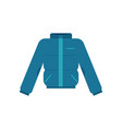 winter blown jacket in flat vector image vector image