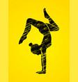 woman yoga action sport woman pose vector image vector image