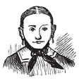womans face like a portrait vintage engraving vector image vector image