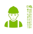 Worker Icon With Free Bonus vector image vector image