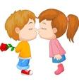 kissing boy and girl vector image