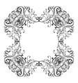 floral vintage frame black decorative ornament vector image