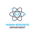 human resources department concept outline icon vector image