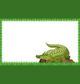 a crocodile on nature frame vector image vector image