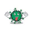 a picture crazy face bat coronavirus mascot design