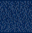 abstract blue tone dots on dark background vector image