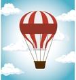 air balloon festival funfair icon vector image