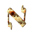 alphabet hebrew passover matza hebrew letter aleph vector image vector image