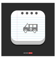ambulance icon gray icon on notepad style vector image
