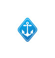 anchor for boat and yacht logo design in the vector image vector image