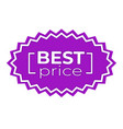 best price sticker for sale and discount tag in vector image vector image