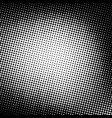 black and white dotted halftone background vector image vector image