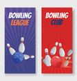 bowling club and league vector image