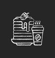 breakfast meals chalk white icon on black vector image