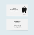 Business card for a dentist vector image