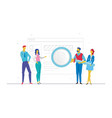 business planning - flat design style colorful vector image vector image