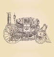 Carriage steam punk vintage engraved