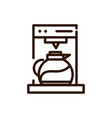 coffee maker machine jar glass line design vector image vector image