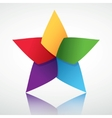 colorful star symbol vector image vector image