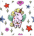 cute with pegasus shy baby vector image vector image