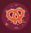 delicious pretzel bakery icon vector image