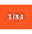 Design concept epidemic of zika virus vector image vector image