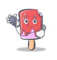 doctor ice cream character cartoon vector image vector image