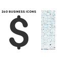 Dollar Icon with Flat Set vector image vector image