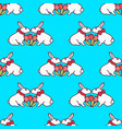 easter bunny seamless pattern9 vector image vector image