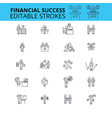 financial success ouline icons editable vector image