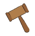 gavel justice icon image vector image