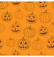 Halloween print seamless pattern with vector image vector image