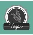 hand food vegan vegetables vector image vector image