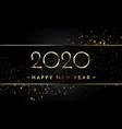 happy new year glitter gold confetti golden vector image vector image