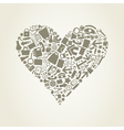 Heart office vector image vector image
