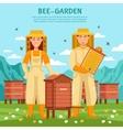 Honey Beekeeping Poster vector image vector image