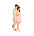 isometry tender couple with care for a future chil vector image